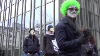 Anonymous Düsseldorf - Raid against Scientology 04/06/2013 [Germany]