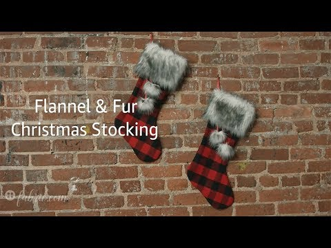 DIY Flannel and Fur Christmas Stockings (Free Pattern!)
