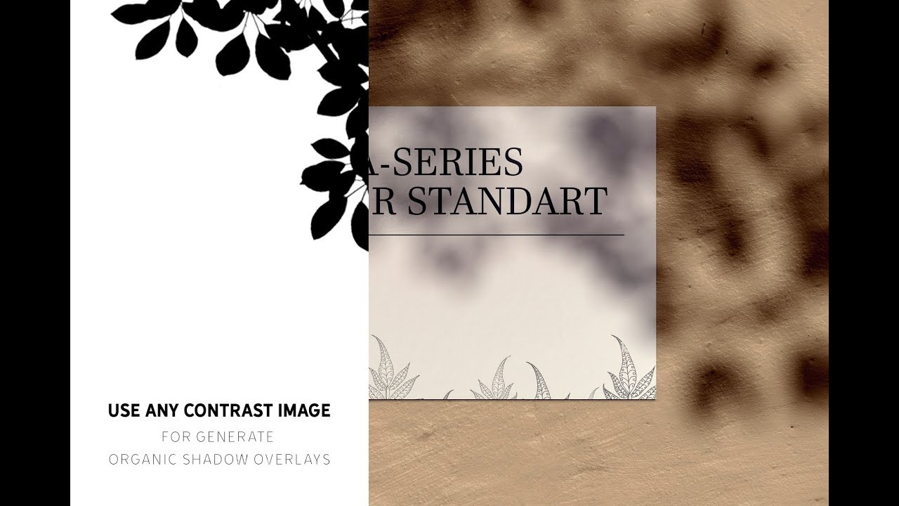 ORGANIC SHADOW Overlay Generator + Mockup DOWNLOAD FREE sample!