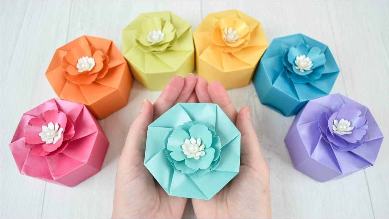 Diy Paper Boxes Free Favor Paper Box Template