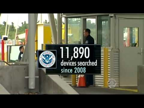 Border security searching electronic devices