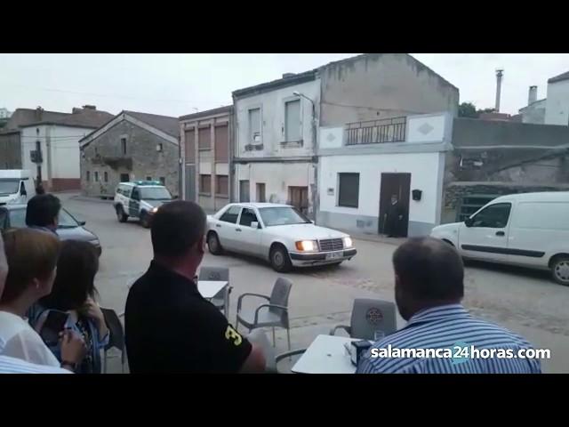 Persecución de la Guardia Civil en Hinojosa de Duero