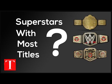 6 Superstars with most titles in WWE   TopNewsage