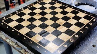 "Making A ""chess"" End Grain Cutting Board"