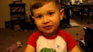 "3-year-old recites poem, ""Litany"" by Billy Collins"