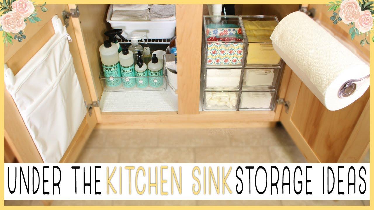 UNDER THE KITCHEN SINK STORAGE IDEAS || Shirlee Alicia