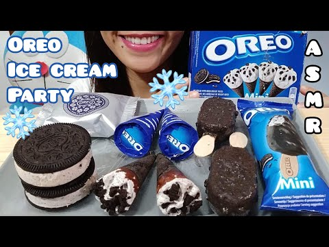 ASMR OREO ICE CREAM PARTY EATING SOUNDS