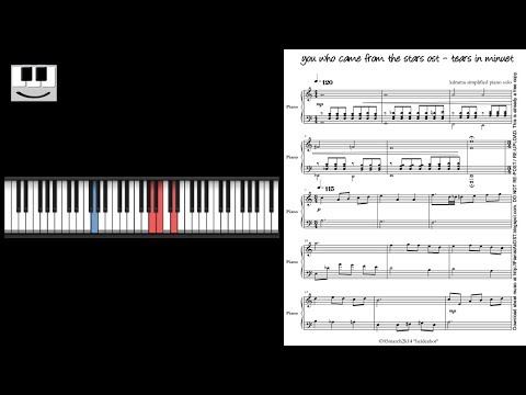 PianistAkOST you who came from the stars ost - TEARS IN MINUET piano