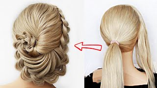 😱 SUPER EASY FLOWER Updo! 😱 Super simple & perfect for long, medium & shoulder length hair
