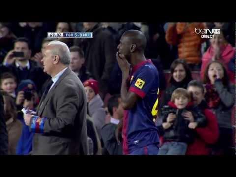 Retour d'Eric Abidal  FC Barcelona - Real Marjoque