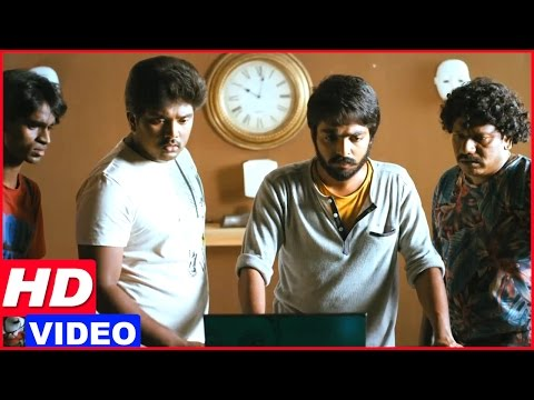 Darling Tamil Movie Scenes   GV Prakash finds the murderers   Karunas   Nikki Galrani