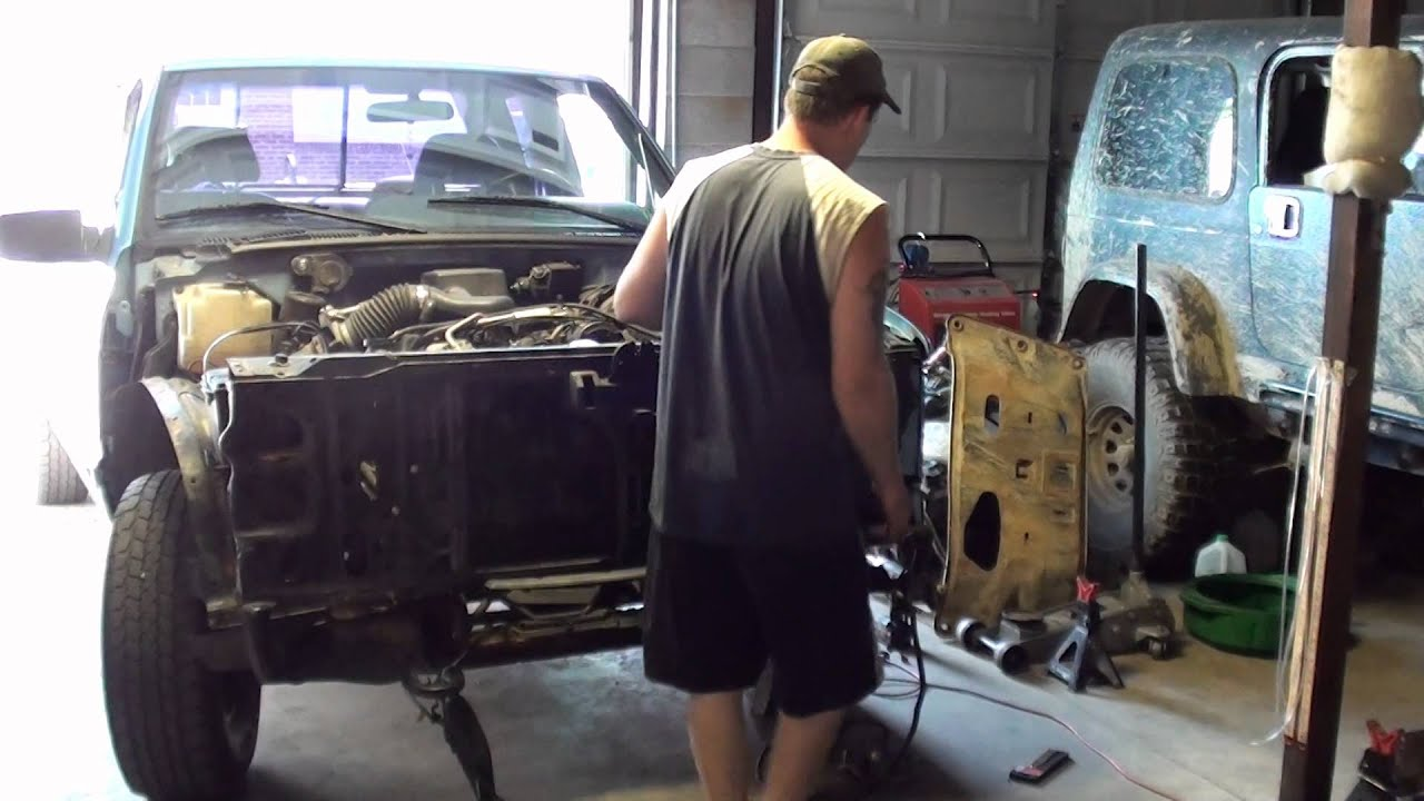 Part 2 Gmc 1500 Front End Collision Repair Youtube