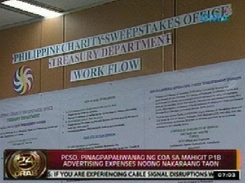 24Oras: PCSO, pinagpapaliwanag ng COA sa mahigit P1B advertising expenses noong nakaraang taon