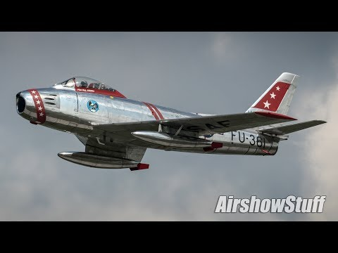 Jet Warbird Flybys (With Narration) - Terre Haute Airshow 2018
