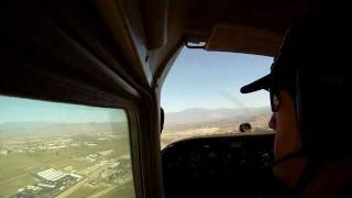 Landing at Hemet, California (HMT) Go Pro, C-172, cockpit view