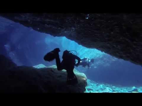 Diving Sea Caves in Santorini