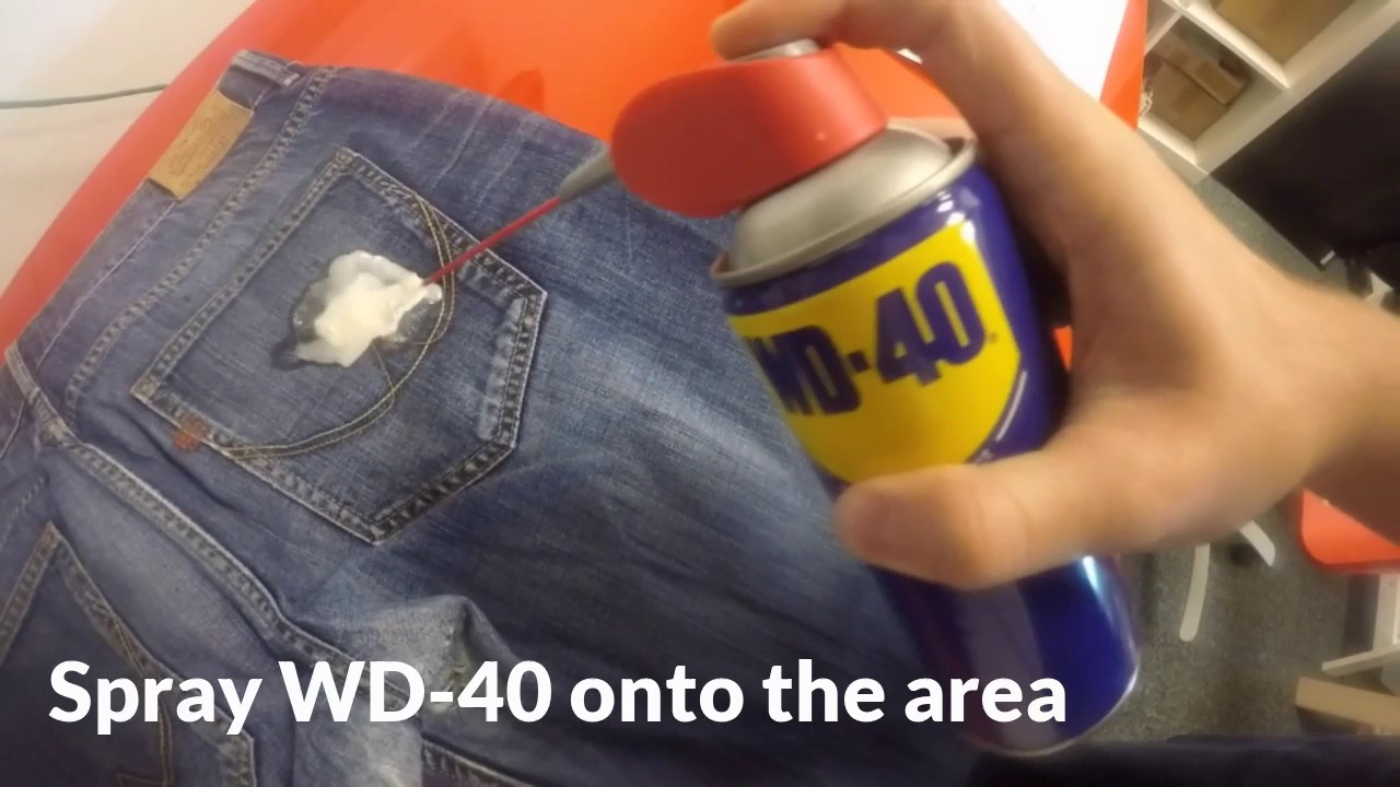 Wd 40 Removing Chewing Gum From Jeans
