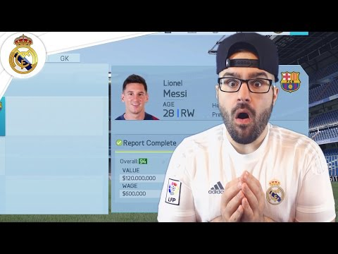 MESSI MOVING TO REAL MADRID! - Real Madrid Career Mode FIFA 16 #16
