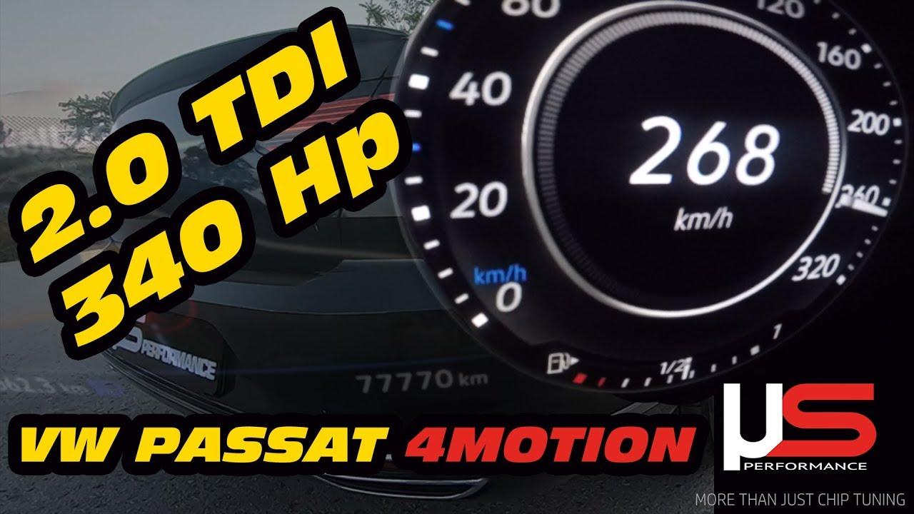 VW Passat B8 2.0 TDI DSG (150HP)   TOP SPEED ON GERMAN NO LIMIT AUTOBAHN   232km/h