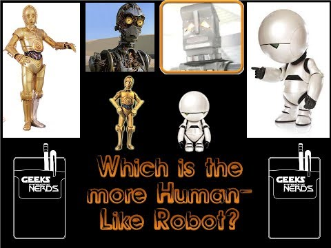 Geeks versus Nerds - C3PO vs. Marvin the Paranoid Android