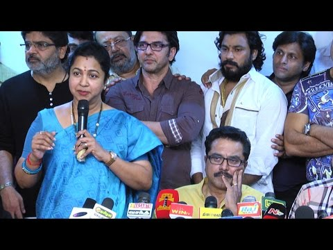 Radhika apologizes to Vishal's group at Nadigar Sangam Election 2015 Press Meet thumbnail