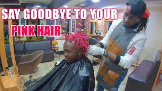 BYE BYE BAHATI'S PINK HAIR    THE THINGS YOU WILL DO FOR LOVE 😭😭😭