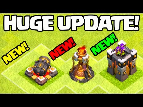 HUGE UPDATE! Clash of Clans NEW Defense / Troop Levels and MORE!