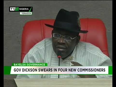 Bayelsa governor swears in four new commissioners