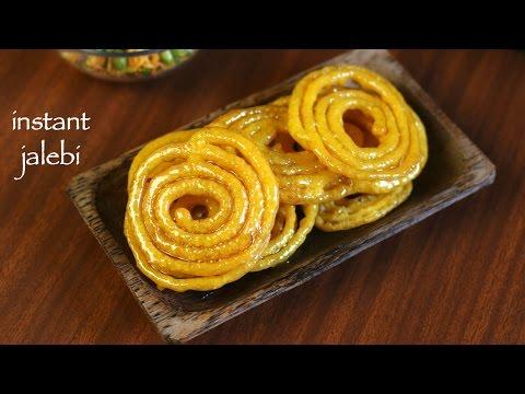 Jalebi Recipe - Instant Jalebi Recipe - How To Make Homemade Crispy Jalebi Recipe