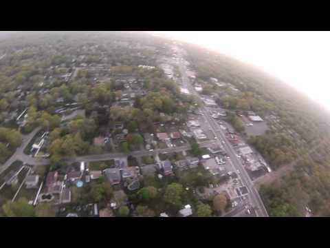 Flight around Centereach at Dusk