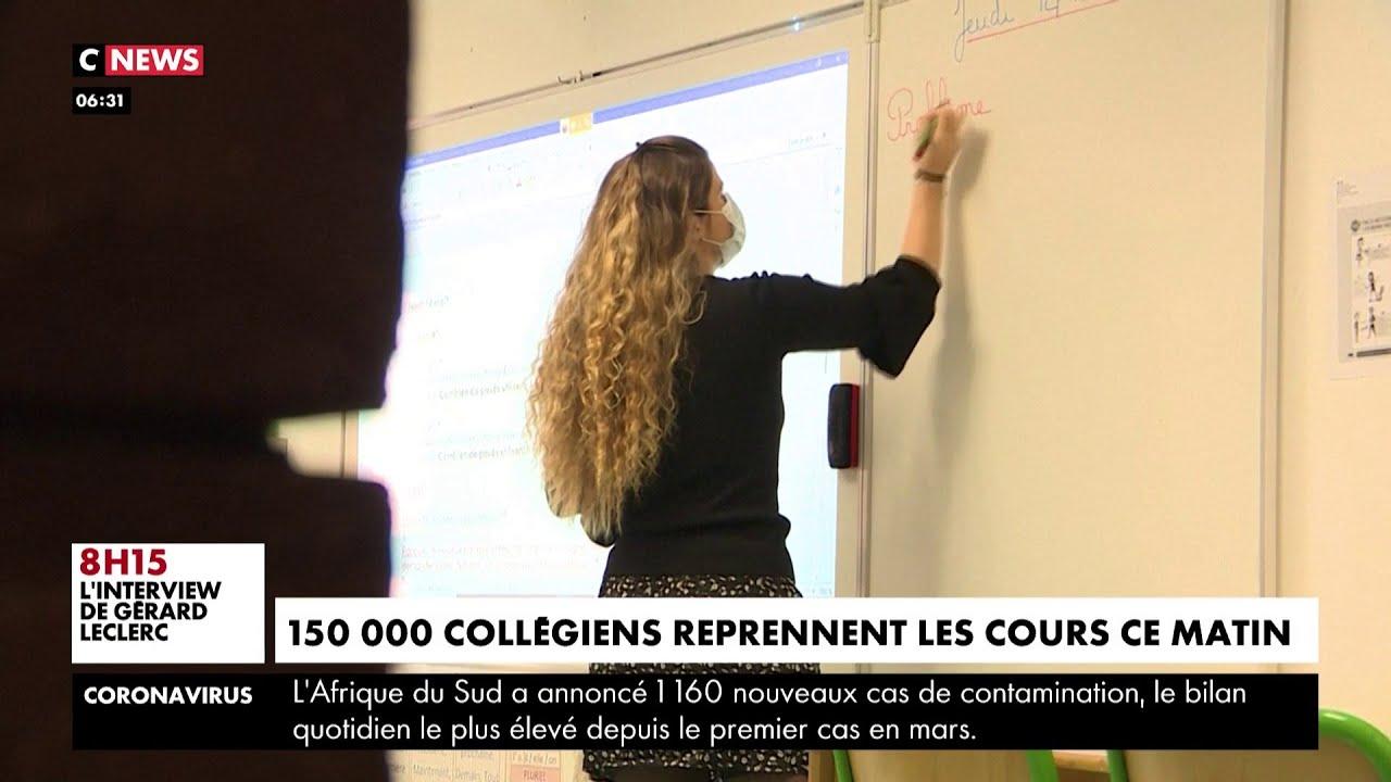 Déconfinement : 150 000 collégiens font leur retour en classe
