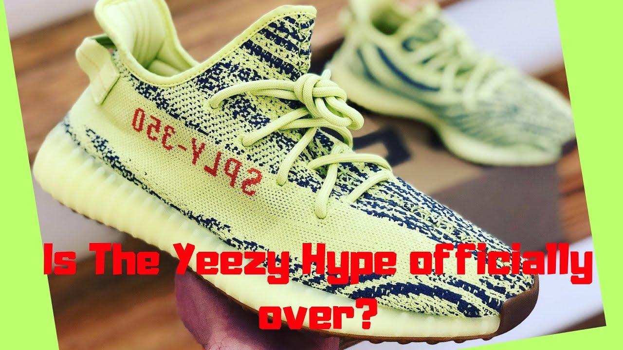 8ed368b5d Adidas Yeezy Boost 350 V2 Semi Frozen Yellow Sneaker Review - YouTube