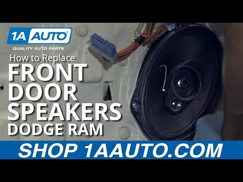 How to Install Replace Front Door Speaker 2002-08 Dodge Ram BUY QUALITY AUTO PARTS AT 1AAUTO.COM