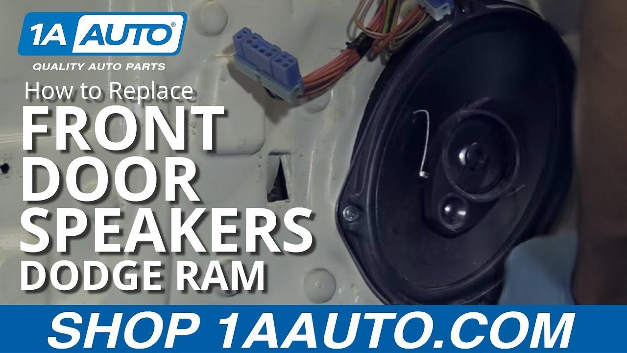 hight resolution of how to replace front door speaker 02 08 dodge ram