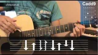 """Cómo tocar """"Mientes Tan Bien"""" de Sin Bandera en Guitarra Acústica (HD) Tutorial - Christianvib"""