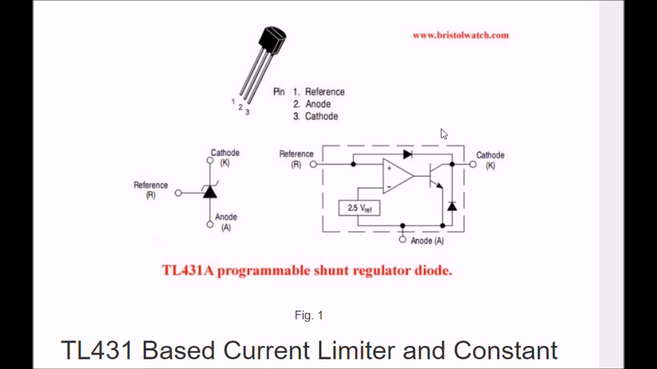 tl431 based current limiter constant current source circuits [ 1280 x 720 Pixel ]