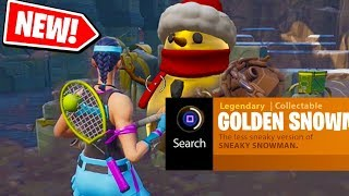 NEW! How to get the GOLDEN SNOWMAN in Fortnite: Battle Royale *NEW* Easter egg in FORTNITE!
