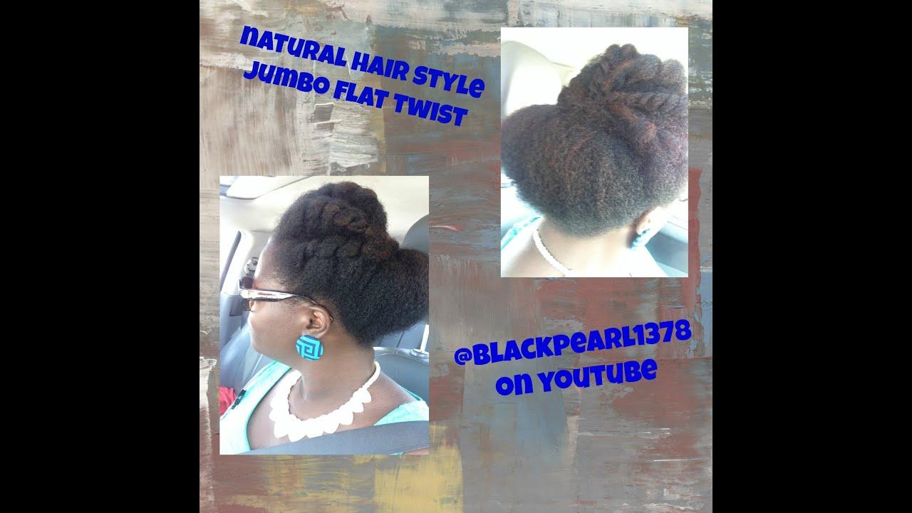natural hair style jumbo flat