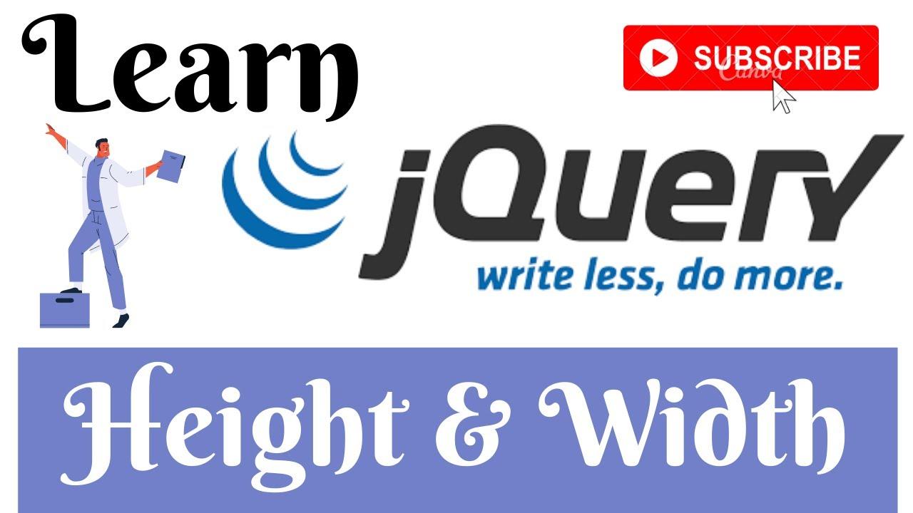 jQuery Lecture - 45 Height & Width Method Tutorial in Hindi / Urdu