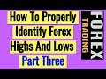 Oran Wright Forex - Identifying Highs And Lows Part 1 ...