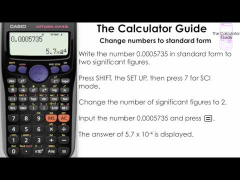 Change Numbers To Standard Form [Science notation] using SCI mode ( Casio Calculator fx-83GTPLUS )