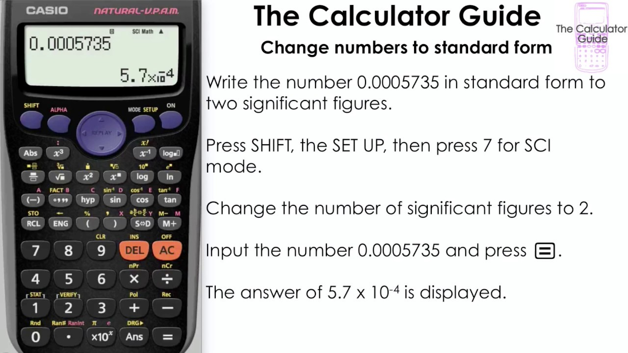 Change numbers to standard form science notation using sci mode change numbers to standard form science notation using sci mode casio calculator fx 83gt falaconquin