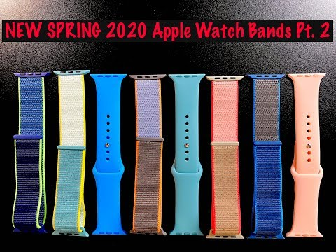 NEW 2020 Spring Apple Watch Band Review Sport Band & Sport Loop   (Pt. 2/2) + GIVEAWAY!