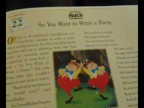 Disney 365 Bedtime Stories Story 53: So You Want To Write A Poem