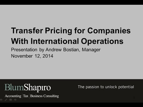 Watch Our Webinar: Transfer Pricing for Companies with International Operations
