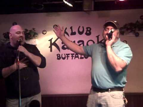 two dj s sing at Klub Karaoke in buffalo new york
