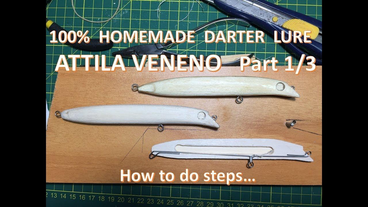 Download DIY - 100% Handmade Darter Lure  - Attila  Veneno  Part 1