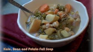 How to Make Soup at Home~Crockpot Kale, Bean and Potato Soup