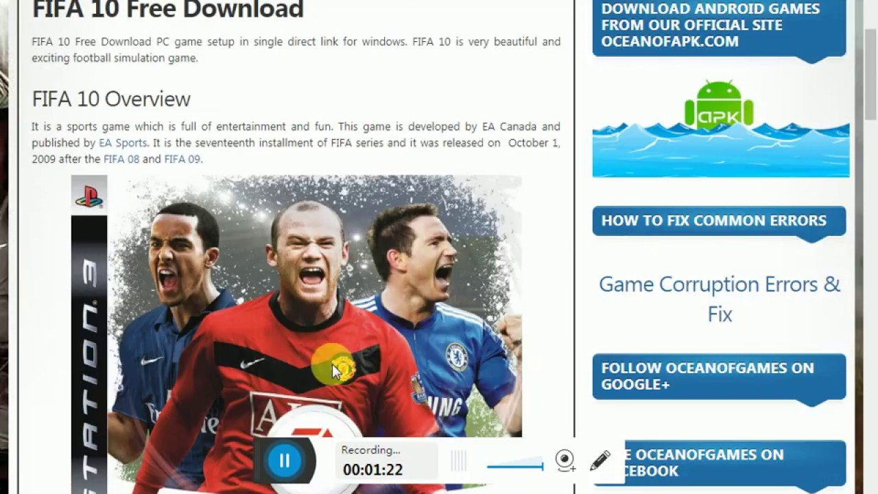 Full games: download fifa 10 for free – sherradi.