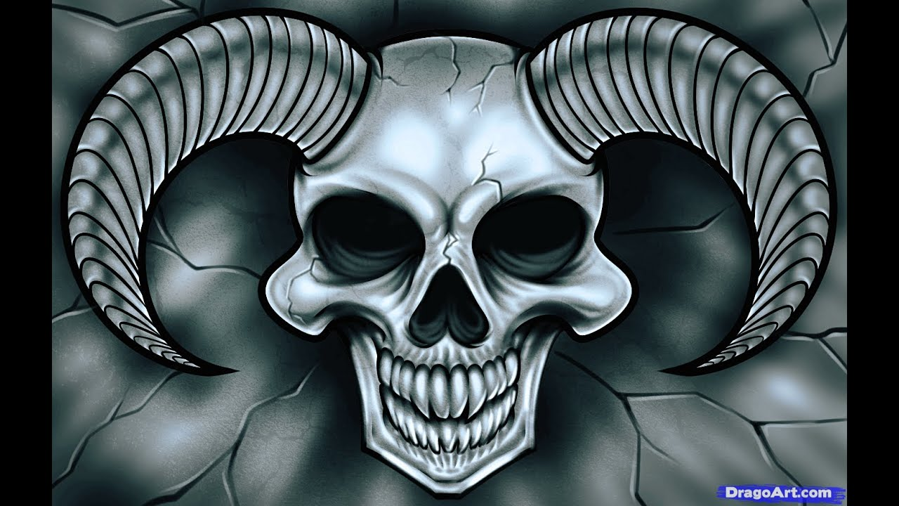 how to draw demon skull for beginners impress your friends